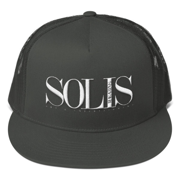 Solis Magazine – White Mesh Back Snapback