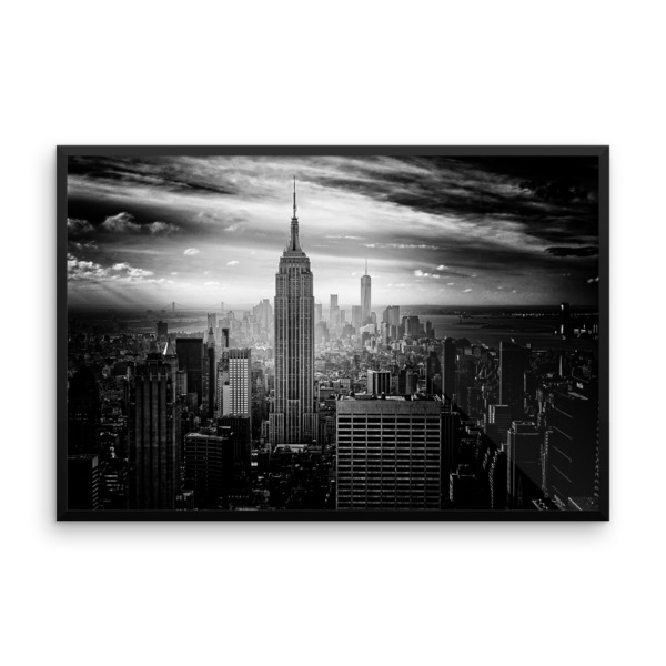 NYC Manhattan – Large Wall Print 24X36