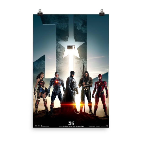 Justice League Movie Poster 24X36IN
