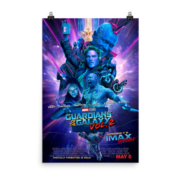 Guardian of The Galaxy Vol 2 Movie Poster 24X36IN